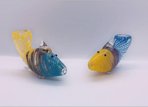 Teal and Yellow Fish Bowl